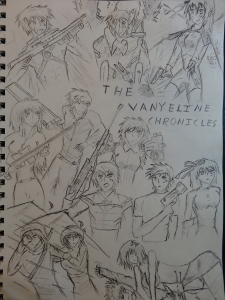 A collage of the VayneLine Chronicles by a fan